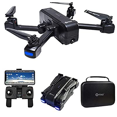Contixo F22 FPV Foldable Drone with Camera for Adults, Kids, and Beginners - RC Quadcopter with 1080p FHD Gimbal Camera - Gesture Control for Selfie - GPS Auto Return - Follow Me - Carrying Case