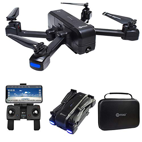 Contixo F22 RC Foldable Quadcopter Drone with 1080P WiFi Camera, GPS, Follow Me, Selfie, Gesture and Waypoint Includes Drone Storage Case