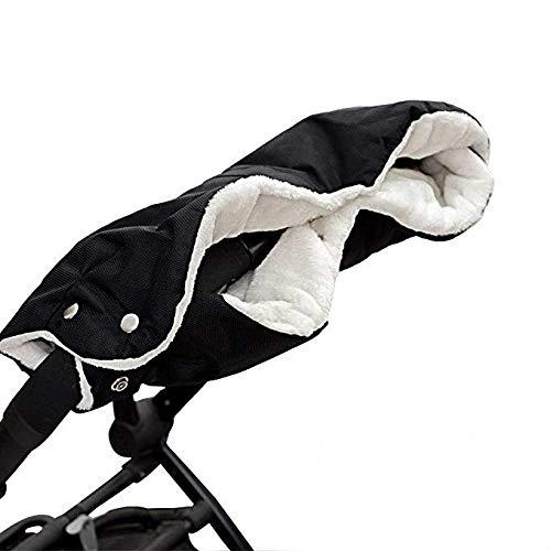Guanti Passeggino Stroller Hand Muff waterproof anti-freeze Gloves Kids per carrozzina, passeggino e rimorchio per la bicicletta (Nero)