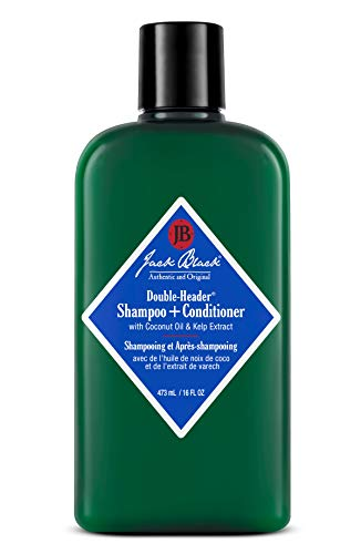 Jack Black – Double-Header Shampoo + Conditioner – PureScience Formula, Coconut Oil and Kelp Extract, Sulfate-Free, Removes Oil and Product Buildup, Lightly Conditions and Soothes, 16 Oz
