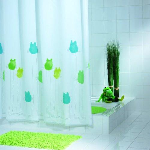Batex Duschvorhang Frog 578456 BxH 180x200 cm Badewannenvorhang Wannenvorhang Textilvorhang Dusche Vorhang für die Dusche