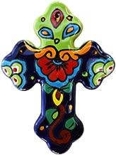 Rainbow Small Talavera Mexican Cross