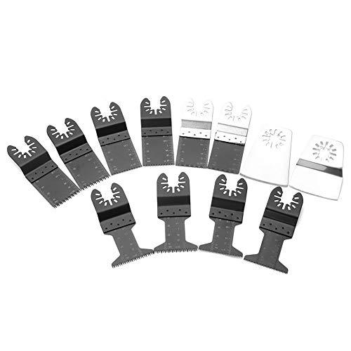 12 Oszillierende Sägeblätter aus Holz/Metall und Kunststoff Multitool-Schnellwechselklingen für Dewalt Ridgid-Handwerker Milwaukee Rockwell Ryobi und mehr