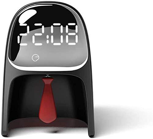 Nologo Alarma de Inducción Alarma Despertador Luz Inteligente Dormir Dormitorio Mesita de noche Lámpara Led Sensor de Tiempo Reloj Despertador para el Hogar Despertador Relojes, negro, 92X75X127mm