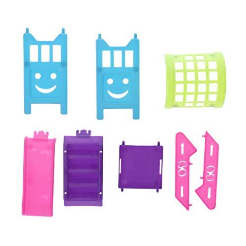Tebatu Mini Doll Slide Girls Toys Ladder Amusement Park Sliding Play Dollhouse Accessories Decoration 13x5x12cm