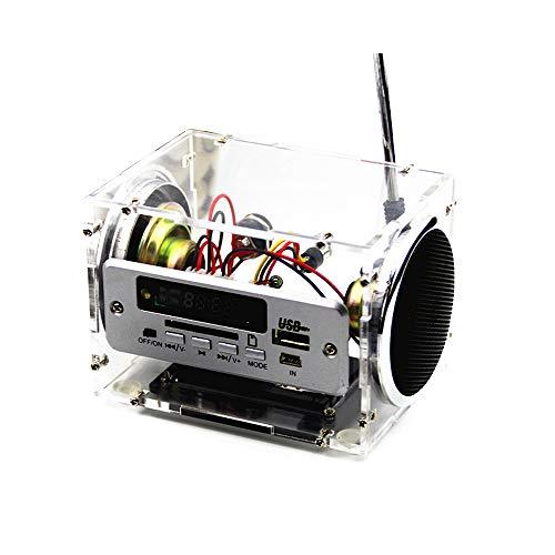 KKmoon Mini elektronische Stereo Lautsprecher DIY Kit Sound Verstärker mit Ladegerät