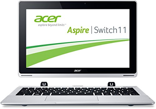Acer Aspire Switch 11 SW5-171 29,5 cm (11,6 Zoll FHD) Convertible Laptop (Intel Core i3-4012Y, 1,5GHz, 4GB RAM, 60GB SSD, Intel HD Grafik, Win 8.1, Touchscreen) silber
