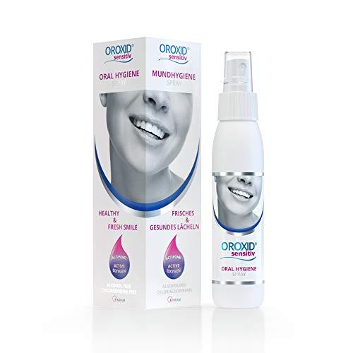 OROXID Sensitiv Spray Para La Higiene Bucal Diaria De La Mucosa Sensible Y Aliviar Los Síntomas De La Inflamación De Las Encías Y Sangrado, Mal Aliento, Portable Fácil, Transparent, 100 Mililitro