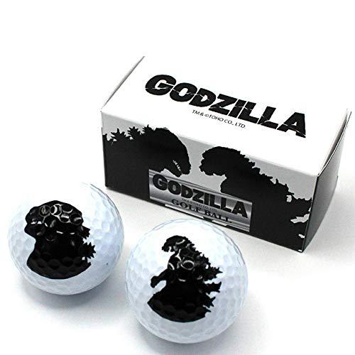 【エンタメプレゼント マーカー付セット】ゴジラ ゴルフボール2個セット GODZILLA[ゴルフ キャラクター おもしろ]