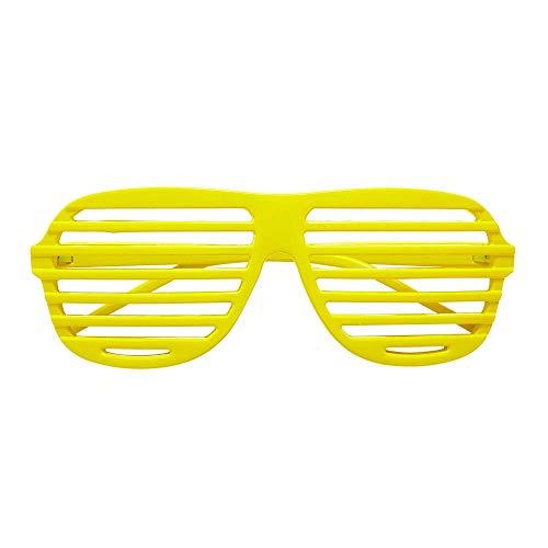 Widmann 01357 Neon Atzenbrille, Unisex– Erwachsene, Neongelb, Einheitsgröße