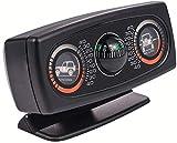 XRYG InclinóMetro Coche,3-en-1 Car Balancer/Guide Ball/Balancer para campo traviesa al aire libre, recorrido autónomo, panel de instrumentos Decoración de la personalidad - Negro