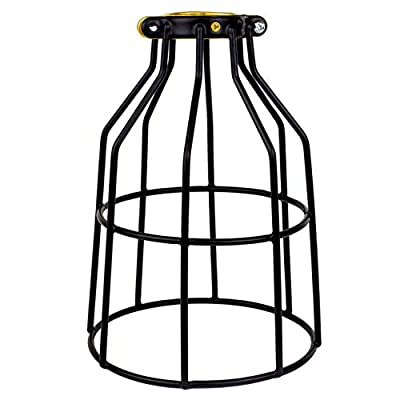 Newhouse Lighting Metal Wire Lamp Guard for Ceiling Fan Light Covers, Pendant String Light and Vintage Lamp Shades / Cover, Industrial Wire Fixture Iron Bird Cage