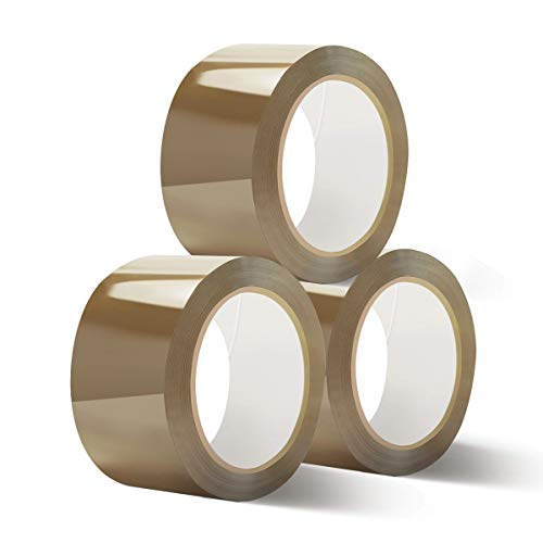 Zedelmaier Braun Klebeband Paketband PP-Band Extra Stark 50 mm x 66 Meter Braun(3 Rolle)