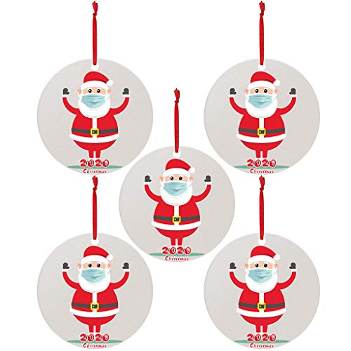 Christmas Garland 5pc 2020 Christmas Ornaments Hanging Decoration Gift Product Personalized Family Usdian-2020-AA-1021-873