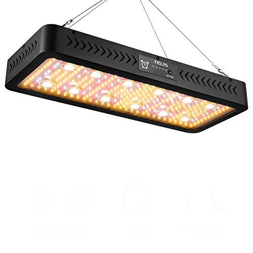 WDF Interruptor Dual con Temporizador Avanzado De 3600 W Timing Grow Light con Tecnología COB Y SMD De Alto Rendimiento, Lámpara De Cultivo LED De Espectro Completo para Plantas De Interior