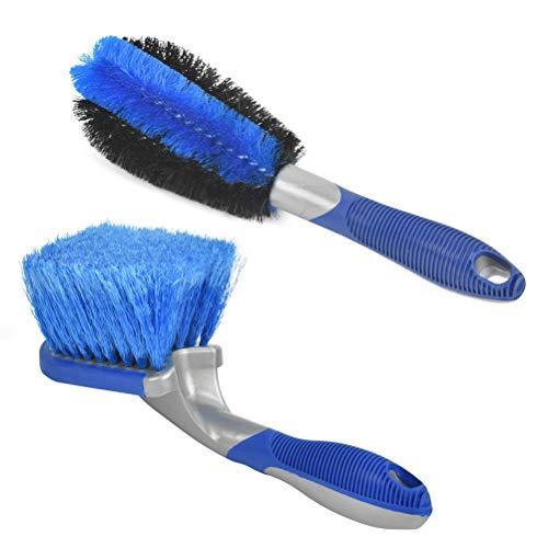 """""""N/A"""" 2 Stück Auto Felgenbürste für Alufelgen, Stahlfelgen, Reinigung & Pflege Radbürste Auto-Reinigungsbürstensatz alle Bürsten zur Reinigung Ihres Autos Multibürste - Felgenbürste zur schonenden"""