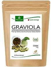 Graviola tabletten 120 x 2000 mg vrucht- en plantenextract 4:1 veganistisch, kwaliteitsproduct van MoriVeda - Sauersack (1x120 tabs)