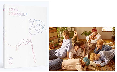 BTS Love Yourself Her (L Version) Album Bangtan Boys CD+Poster+Photobook+Photocard+Mini Book+Sticker Pack+(Extra 6 Photocards and 1 Double-Sided Photocard)