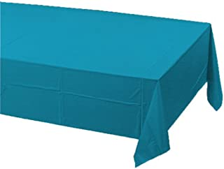 Creative Converting Plastic Banquet Table Cover, Turquoise - 723131