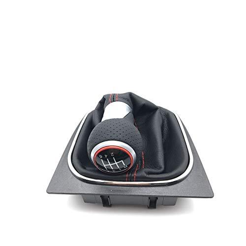 LUOERPI 5 6 Gang Auto Schalthebel Schaltknauf, Für VW Golf V VI Golf 5 Golf 6 Jetta Golf 5 R32 GTI 2004 2005 2006 2007 2008 2009