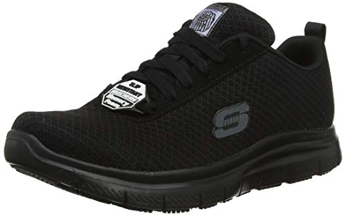 Skechers Herren Flex Advantage- Bendon Sneaker, Schwarz (Black Mesh/Water & Stain Repellent Treatment Blk), 43 EU