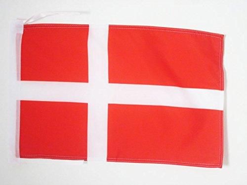 AZ FLAG Bandera de Dinamarca 45x30cm - BANDERINA DANESA 30 x 45 cm cordeles
