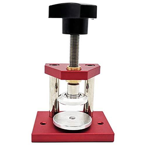 SNOWINSPRING Mikro Pressen Uhren GEH?use Presse Mikro Pressen Uhren GEH?use für Mittlere Beanspruchung, Press Werkzeug mit 12 Nylon Matrizen für die Reparatur Von Uhren