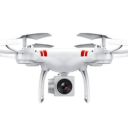 Drohne Mit Kamera HD 1080P Mini FPV Quadrocopter Outdoor Schwerkraft-Sensor Live übertragung Flugbahnflug Höhe-halten App Steuern Ferngesteuertes Geeignet für Anfänger und Profis,White