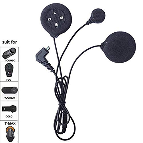 FreedConn Microphone Headphone Speaker Soft Cable Headset Accessory for Motorcycle Helmet Bluetooth Interphone intercom using for TMAX TCOM FDCVB and COLO, high definition headphones