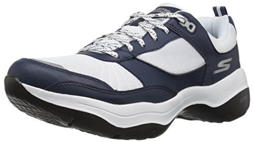 Skechers Women's Mantra Ultra Forte Sneaker, Navy/White, 8 M US