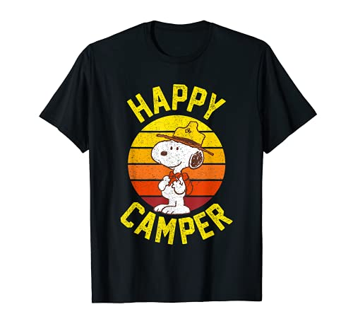 Happy Camper Snoopy T-Shirt, 5 Colors, Adults, Kids