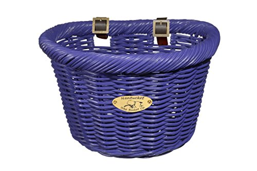 Learn More About Nantucket Bicycle Basket Co. Cruiser Adult D-shape Basket, Purple
