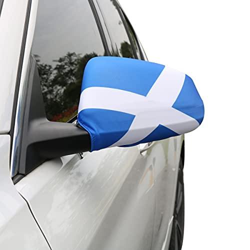 Sonia Originelli Auto Außenspiegel Fahne Set Schottland Scotland Bikini Flagge EM WM