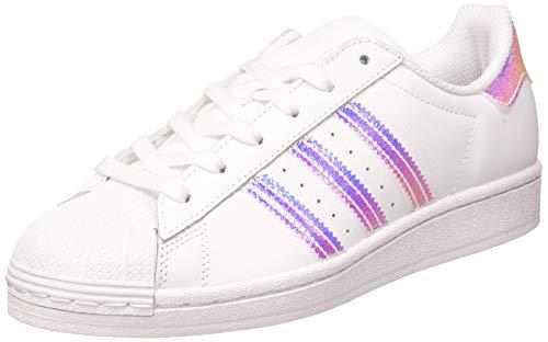 adidas Superstar J, Scarpe da Ginnastica, Ftwr White/Ftwr White/Ftwr White, 36 2/3 EU