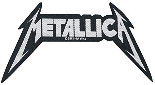 Metallica Classic Spiked Logo oficial nuevo Negro Cut Out Patch