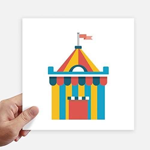 DIYthinker Funny Park Incroyable Tente Illustration Autocollant carré de 20 cm Mur Valise pour Ordinateur Portable Motobike Decal 4Pcs 20cm x 20cm Multicolor