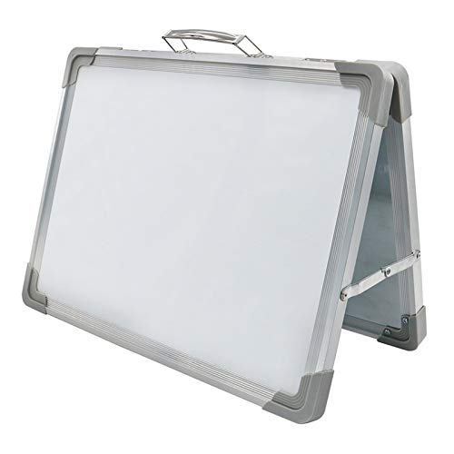 kdjsic Magnetic Desktop Foldable Whiteboard Portable Mini Easel Double Sided on Table Top with Holder for Kids Drawing