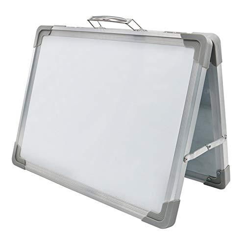 gszfsm001 - Pizarra plegable de escritorio magnética, mini caballete portátil, doble cara, con una tabla de dibujo para niños, cuadro de relación de trabajo del profesor, cuadro de estadísticas