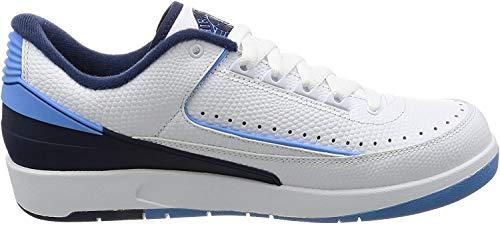 Nike Herren Air Jordan 2 Retro Low Basketballschuhe, weiß Unvrsty Bl Mid NVY Infrr, 42 EU