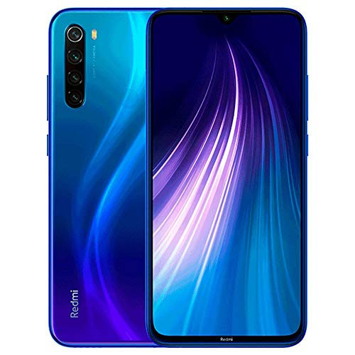 "Xiaomi Redmi Note 8 64GB + 4GB RAM, 6.3"" LTE 48MP Factory Unlocked GSM Smartphone - International Version (Neptune Blue)"