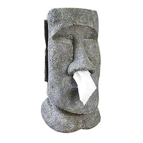 circulor Moai Taschentuchbox/Taschentuchspender/Kosmetiktücherbox - 18x21x32 cm
