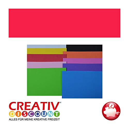 CREATIV DISCOUNT® NEU Moosgummiplatte, 29 x 20mm, 1 STK., Rot