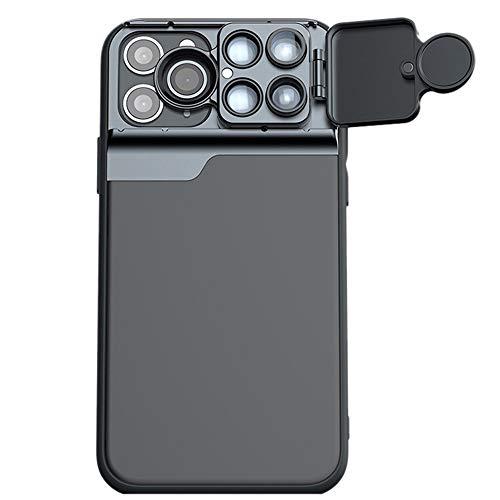 Kit profesional de lentes de cámara para iPhone 12 Series,6 en 1 funda protectora con filtro CPL,10X 20X Macro,2X Telescopio,180° lente ojo de pez para iPhone 12Pro Max(para iPhone12 Pro Max- 6.7