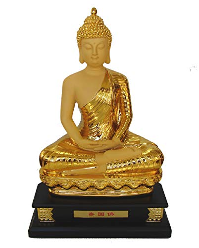 """Feng Shui Import 17"""" Big Gold Sitting Thai Buddha Statue to Bring Peace and Relaxation -  FEN-5722"""