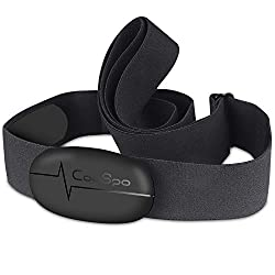 HEART RATE CHEST STRAP - CooSpo tracks and captures real-time heart rate and calories accurately. It can pair with the popular training apps, GPS watches and bike computers. BLE 4.0 & ANT+-Equipped with Bluetooth and ant+ technology, which can connec...