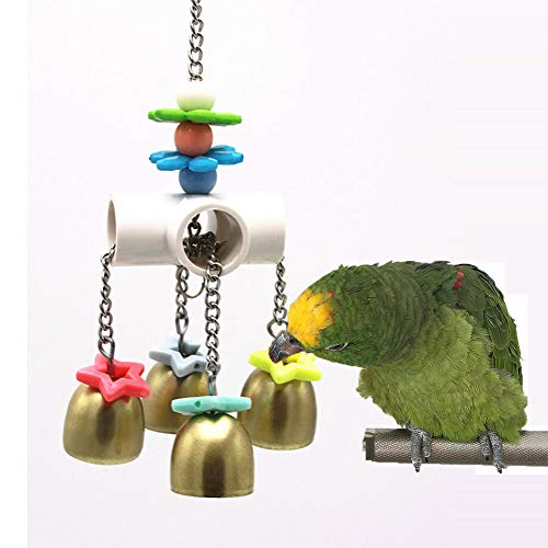 Bells Spielzeug mit süßem Sound für Vögel Papageien Wellensittiche Sittiche Nymphensittiche Finken Kanarienvogel Aras, Grauer Kakadu Amazon-Käfig