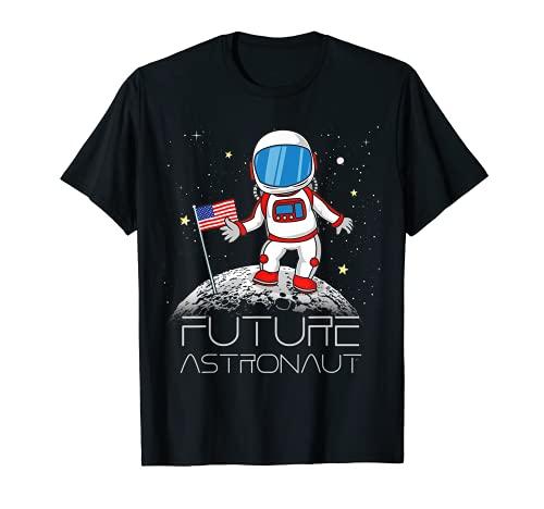 Kids Future Astronaut Man On The Moon Astronomy Gift T-Shirt