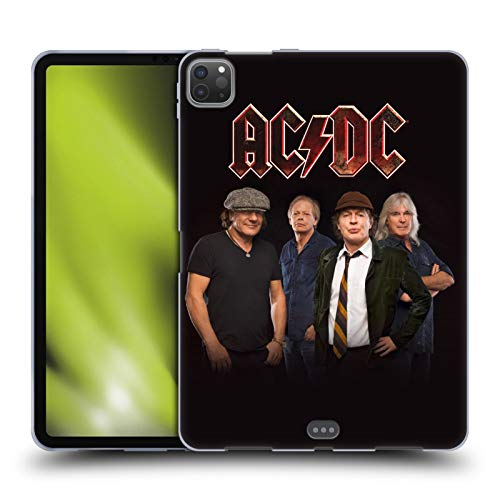 Official AC/DC ACDC Crew Studio Shot Group Photo Soft Gel Case Compatible for Apple iPad Pro 11 (2020)