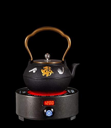 IKJN Theiere en Fonte Théière Bouillie Japonaise De Grande Capacité Cuisinière Électrique Intelligente Boutiques Bouilloire Fonte F
