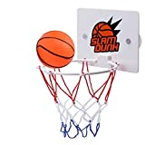 swiftrans Mini Basketball Hoop Wall Mounted Kids Basketball Hoop Portable Bedroom Indoor Outdoor Sport Toys for Kid Education Pet Play Ball Basketball Lovers